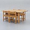 "Børge mogensen, matbord, 4 stolar, ""asserbo"", firma karl andersson & söner."