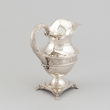 A silver creamer by gustaf dahlgren, malmö, 1851.