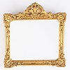 A gilded mirror from the middel/second half of the 19th century.
