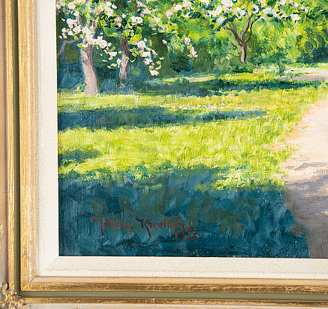 Johan krouthén, oil on canvas, signed and dated 1925.