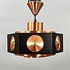 Birger hammerstad, ceiling lamp, copper, model 367/68.