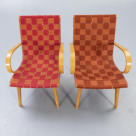 Armchairs, 50s, 2 pcs.