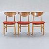 Chairs, 3 pcs, 1950s.