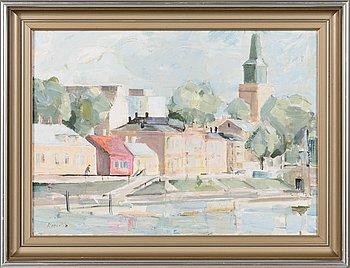 Matti Koskelin, oil on canvas, signed.