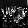 """Nils landberg, a 62 pcs glass """"prelude"""" service orrefors later part of the 20th century."""