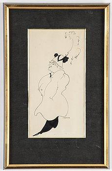 Einar Nerman, ink on paper, signed.