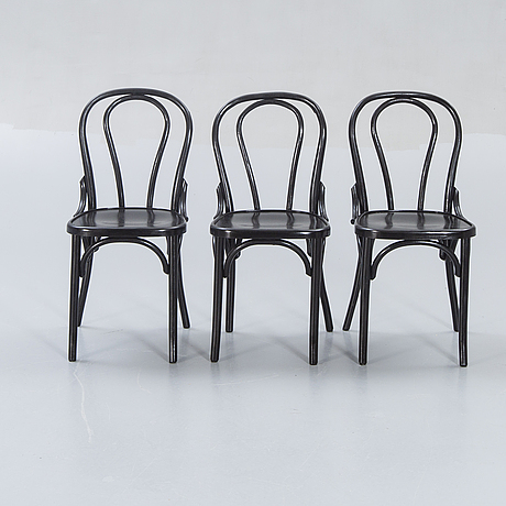 Chairs, 6 pcs, bentwood, 20th century.