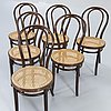 Chairs, 6 pcs, bentwood, first half of the 20th century.