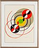 Sonia delaunay, lithograph in colours, signed 9/75.