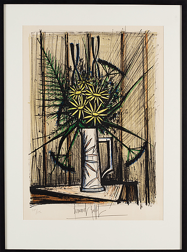 Bernard buffet, lithograph in colours, 1970, signed 115/150.
