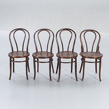 Chairs, Mundus, bentwood, first half of the 20th century.