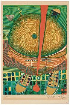 "763. Friedensreich Hundertwasser, ""Der Knabe mit den grünen Haaren""."
