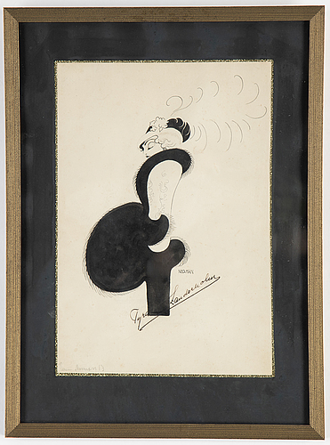 Einar nerman, ink, signed and dated -13.