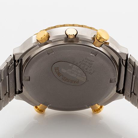 "Citizen, ""peter ""pekka"" lindmark, best player 1986"", kronograf, armbandsur, 39 mm."
