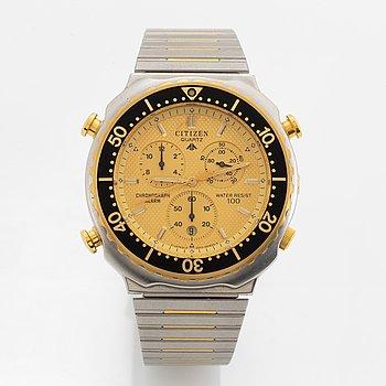 """Citizen, """"Peter """"Pekka"""" Lindmark, Best player 1986"""", chronograph, wristwatch, 39 mm."""