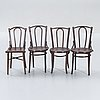 Chairs, 4 pcs, thonet, bentwood, first half of the 20th century.