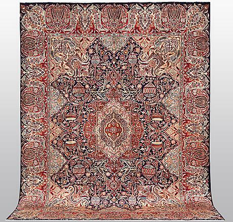 A carpet, kashmar, ca 384 x 296 cm.