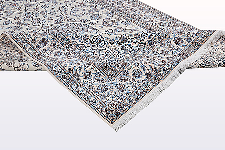 A carpet, nain, part silk , so called 6 laa, ca 316 x 207 cm.