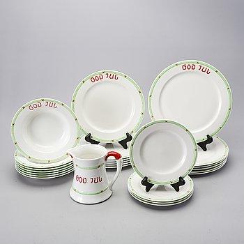 "Tableware 24 dlr ""Merry Christmas"" Rörstrand second half of the 20th century porcelain."