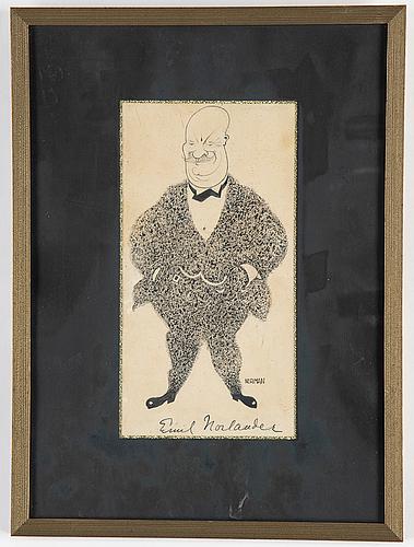 Einar nerman, ink, signed.