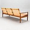Hans olsen, a teak and rattan sofa for juul kristensen, denmark, late 1950s.