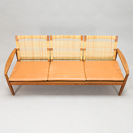 Hans olsen, sohva, juul kristensen, tanska 1950-luvun loppu.
