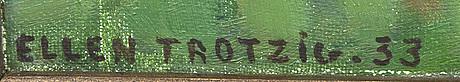 Ellen trotzig, olja på duk signerad och daterad 1933.