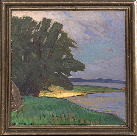 Ellen trotzig, oil on canvas signed and dated 1933.