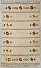 A swedish flat weave carpet signed sh ca 243 x 162 cm.