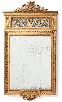 94. A large late Gustavian two-light girandole mirror, late 18th century attributed to P Ljung.