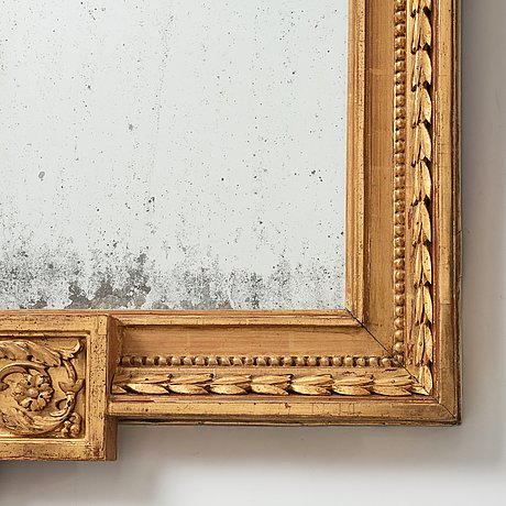 A large late gustavian two-light girandole mirror, late 18th century attributed to p ljung.