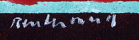 Carl fredrik reuterswärd, a signed and dated enamel on canvas.