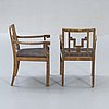 A pair of 1930/40s swedish grace armchairs.
