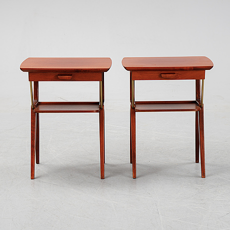 A pair of 1950's-60's bedside tables,