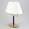 Josef frank, a brass table lamp model 2388 for svenskt tenn, stockholm, sweden.