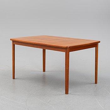 A teak dining table, Ulferts, Tibro, second half of the 20th century.