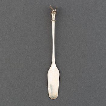 A WA Bolin silver honey-spade, marked in Stockholm 2007.