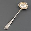 A swedish 19th century silver soupe-laddle, marked gustaf bergendorff, karlskrona 1811.