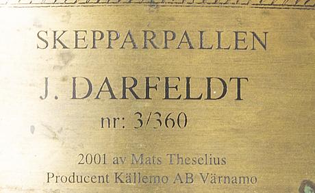 "Mats theselius, ""skepparpallen"", källemo, numbered, 2001."