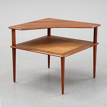 Peter Hvidt & Orla Molgaard Nielsen, a 1950/60s 'Minerva' teak and rattan table, France & Son.