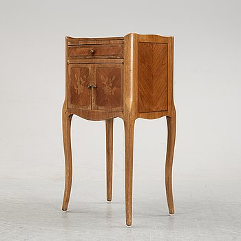 A rococo style bedside table, 20th Century.