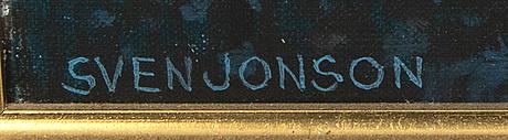 Sven jonson, a signed oil on canvas.