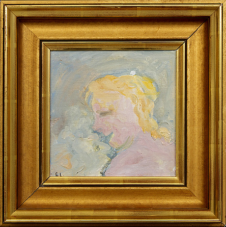 Evert lundquist, a signed oil on canvas.