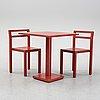Boris berlin/poul christiansen, a 'non' table and two chairs, komplot design, källemo.