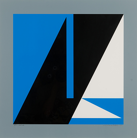 Lars-gunnar nordström, silkscreen, signed and dated -88, marked tait. vedos.