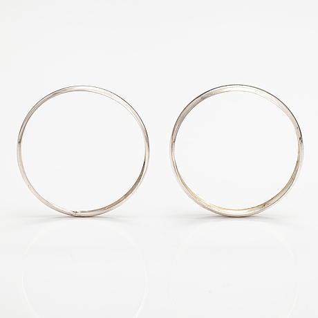 Two silver bracelets. kalevala koru, heksinki 1975.