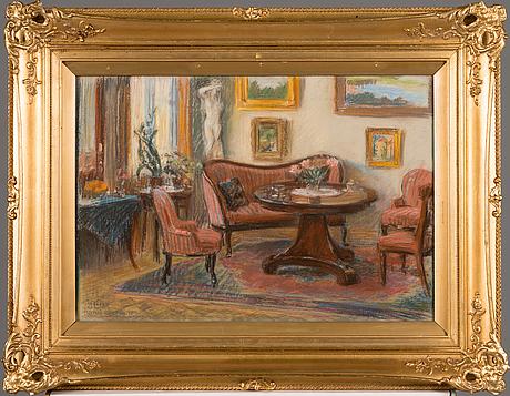 Axel haartman, pastell, signerad och daterad 1928.