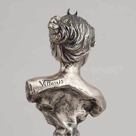 Skulptur av diane, märkt villanis och bolin, s:t petersburg 1908-1917.