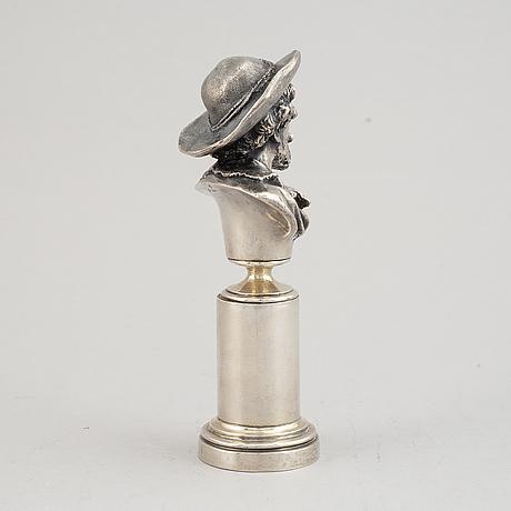 Skulptur av rubens, silver, märkt grachev, s:t petersburg 1908-1917.