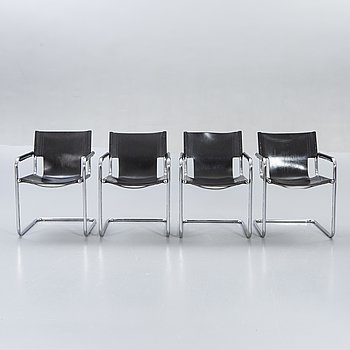 A set of four Italien armchairs later part of the 20th century.